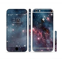 The Bright Pink Nebula Space Sectioned Skin Series for the Apple iPhone 6 Plus