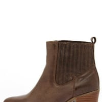 MTNG 93522 Bree Rustico Mocha Brown Leather Ankle Boots
