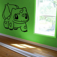 Bulbasaur Decal Pokemon Wall Decal Kids Room Decal Kids Wall Art Wall Decal Sticker Bedroom Sticker Wall Art Gift Decoration