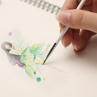 Fine Pen Brush Oil Painting Brush Art Supplies for Drawing Artist Student Stationery Free Shipping 3pcs/set