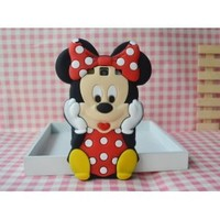 Samsung Galaxy S3 i9300 SIII Disney Minnie 3D Cute Doll Soft Silicone Case , USA Seller