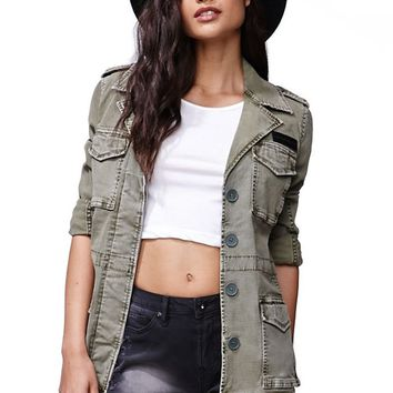 Gypsy Warrior Army Jacket - Womens Jacket - Green