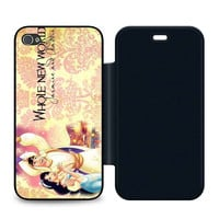 Whole New World Jasmine and Aladdin Leather Wallet Flip Case iPhone 4 | 4S