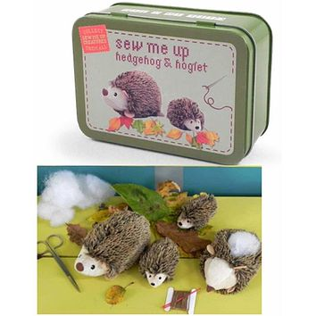 Sew Me Up Hedgehog & Hoglet - Gift In A Tin