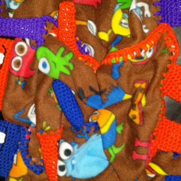 Monster Buddy lovey Blanket