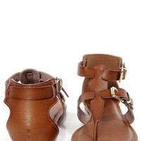 Bamboo Jazibel 05 Tan Double T-Strap Thong Sandals
