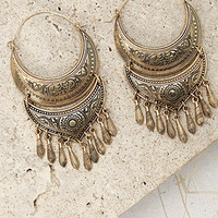 Etched Tier Drop Earrings
