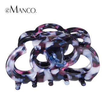 Hollow acrylic hair claw colorful acetate barrettes hair jewelry 2015 simple big hair claws accessories women haarschmuck eManco