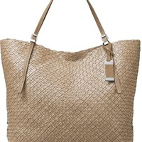 Michael Kors Large Hutton Woven Leather Tote | Nordstrom