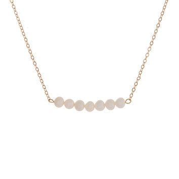 Trapeze Pearl Pendant Necklace