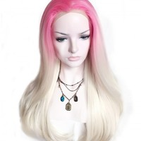 Cotton Candy Synthetic Lace Front Wig - UniWigs ® Official Site