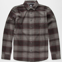 Element Palmer Mens Flannel Shirt Charcoal  In Sizes