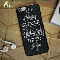 Harry Potter Quote I Solemnly Swear That I Am Up To No Good Black iPhone 6S Case by Avallen