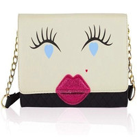 Luv Betsey Betsey Johnson Kitch Kisses Clutch/Crossbody