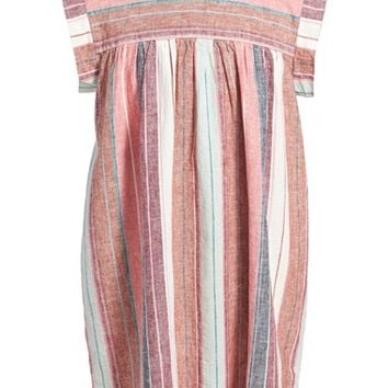 Girl's Tea Collection 'Raya Argentina' Linen & Cotton Dress,