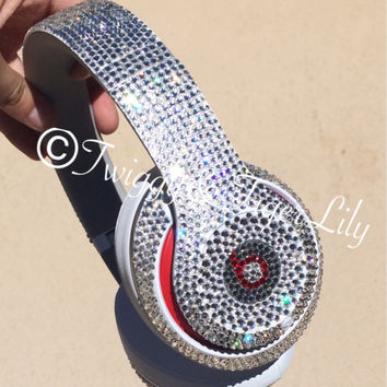 Swarovski Crystal Beats By Dre Studio Bling Headphones - made with Swarovski Elements, Rhinestone Crystal Beats by Dre