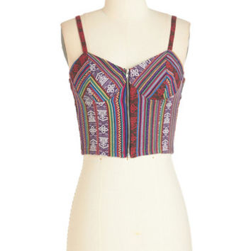 ModCloth Boho Short Length Sleeveless Festive Forecast Top