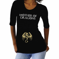 """Funny """"Mother of Dragons""""- Maternity Shirt, cute pregnancy clothes"""