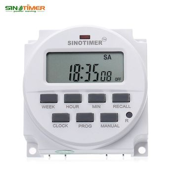BIG LCD 15.98 inch Digital 220V AC 7 Days Programmable Timer Switch with UL listed Relay inside and Countdown Time Function
