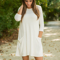 Just Wing It Dress, Cream