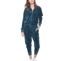 Ultra Luxe Velour Hooded Jumpsuit
