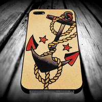 Anchor Tattoo Style Sailor Pirate for iPhone 4/4s/5/5s/5c/6/6 Plus Case, Samsung Galaxy S3/S4/S5/Note 3/4 Case, iPod 4/5 Case, HtC One M7 M8 and Nexus Case ***