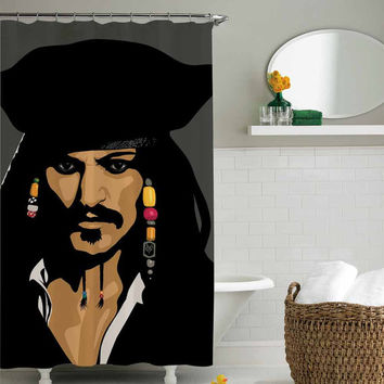 Jack Sparrow pirates of the caribbean shower curtain,shower curtain size 36x72 48x72 60x72 66x72