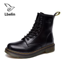 Women Boots Doc Martins 2016 British Dr Martins Vintage Classic Genuine Martin Boots Female Thick Heel Motorcycle Women's Shoes