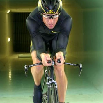 Lance Armstrong Poster On Bike 24inx36in