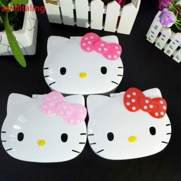 New Hello Kitty Mirror  Make Up jewelry box yey-E1027-3