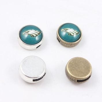 8mm USA Football Philadelphia Eagles Slider Charms for Necklace and Bracelet Alloy Enamel Slide Charms for Jewelry Making