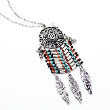 Dreamcatcher long necklace