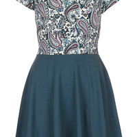 **Cap Sleeve Skater Dress by Annie Greenabelle - Topshop