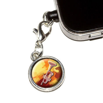 Trumpet Player - Band Orchestra Instrument Music Brass Mobile Phone Charm