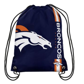 Broncos Backpack Draw Strings Game Day NFL Souvenirs Denver Fan Gifts Football