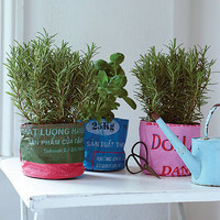 fair trade recycled rice bag pot by recycle-recycle | notonthehighstreet.com