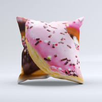 Sprinkled Donuts ink-Fuzed Decorative Throw Pillow