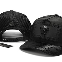 Black VERSACE Baseball Cap Hat Sports Workout Stylish