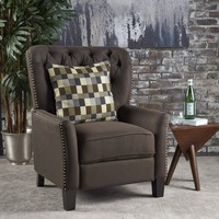 Carlyle Tufted Back Fabric Recliner Armchair