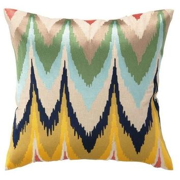Frequency Flame Stitch Pillow