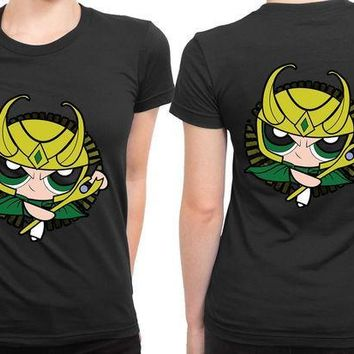 MDIG1GW The Asgardian Girl Powerpuff 2 Sided Womens T Shirt