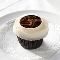 Vintage steam train gear edible frosting rounds