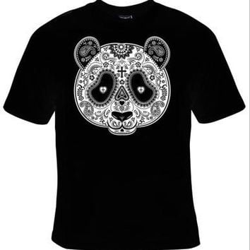 Panda Bear Day Of The Dead Mask T-Shirt Men's