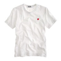 J.Crew Womens Play Comme Des Garcons Red Heart T-Shirt
