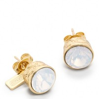 Coach :: Stone Stud Earrings