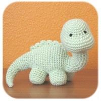 dinosaur crochet amigurumi plush in mint green by HenryStMartin