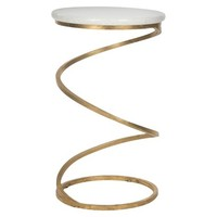 Safavieh Accent Table - Gold White