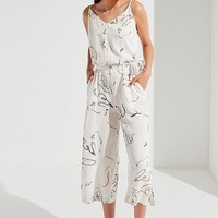 Native Youth Abstract Print Belted Jumpsuit | Urban Outfitters