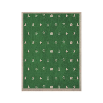 """Snap Studio """"Cheery Pattern Green"""" Mint KESS Naturals Canvas (Frame not Included)"""