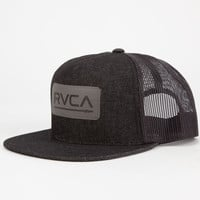 Rvca Steady Station Mens Trucker Hat Black One Size For Men 25376510001